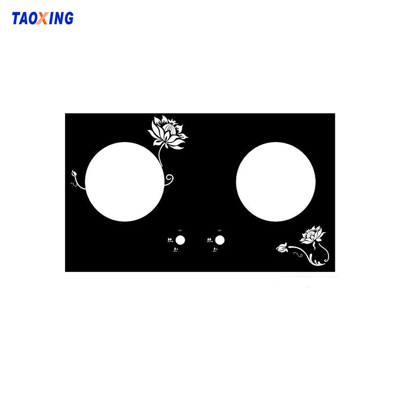 Silkscreen printed heat resistance tempered gas stove glass