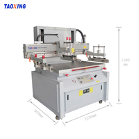 Semi-auto 40*60cm vertical flatbed silk screen printing machine for flat glass printing